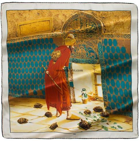 Aker Eşarp 3121-312 ottoman serisi kablumbağa terbiyecisi