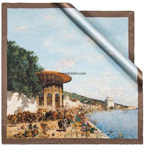 Aker Eşarp 6403-332 sura ipek ottoman serisi İstanbul'da Çarşı Günü
